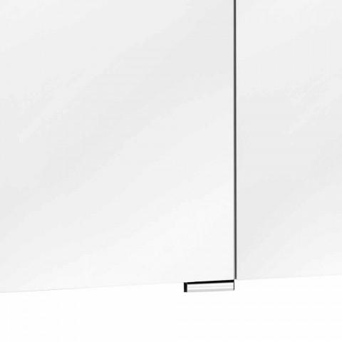 Moderne wandkastspiegel met 3 deuren en interne planken - Bramo