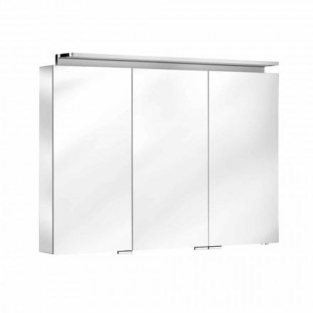 Badkamerspiegel met wandmeubel met 3 deuren en interne planken - Bramo