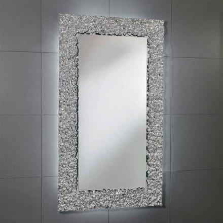 Spiegel met decoratie frame in modern design glas, Cecilia