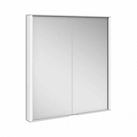 Spiegelkast in zilver geverfd aluminium, modern - Demon