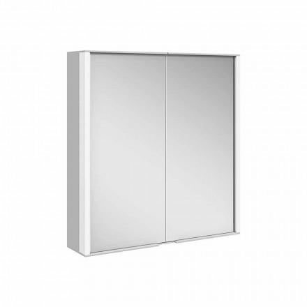 Wandspiegel in aluminium met LED-verlichting - Demon