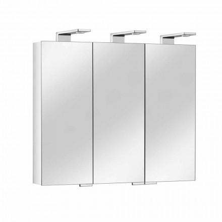 Spiegelcontainer met 3 kristallen deuren en 3 LED-lampjes, Precious - Maxi