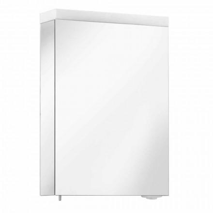 Spiegelcontainer met draaideur en LED-verlichting, hoge kwaliteit - Alfio