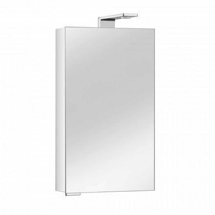 Spiegelkast met kristallen deur en chromen details, modern - max