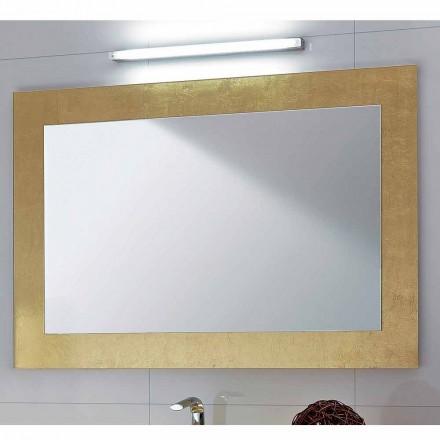 Badkamerspiegel glas frame versierd met bladgoud Pascal