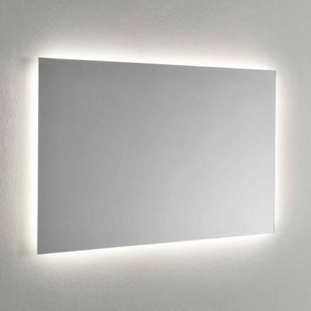 Wandspiegel met LED-achtergrondverlichting aan 4 zijden Made in Italy - Romio