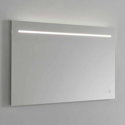 Moderne wandspiegel met LED-licht en stalen frame Made in Italy - Yutta