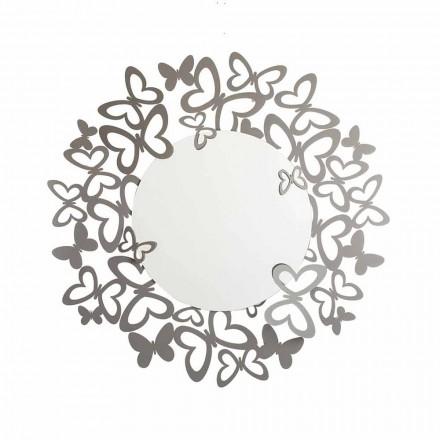 Ronde wandspiegel van modern design in ijzer Made in Italy - Stelio