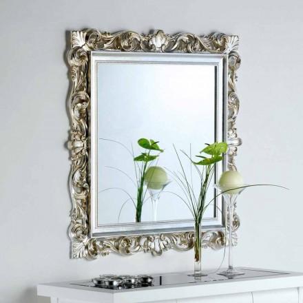 ontwerpermuur spiegel met gedecoreerde gestel Marsy, 98x98 cm