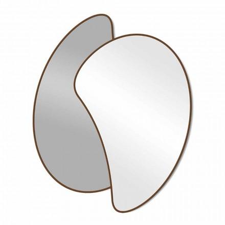 Grote design wandspiegel met modern gekleurd frame - Mantra