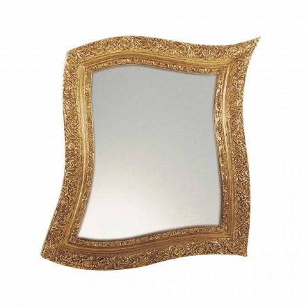 Wandspiegel in barokstijl in ijzer goud en zilver Made in Italy - Rudi