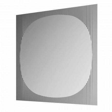 Moderne vierkante wandspiegel in Smokey Color Made in Italy - Bandolero