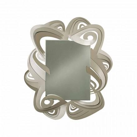 Moderne rechthoekige ijzeren wandspiegel Made in Italy - Penny