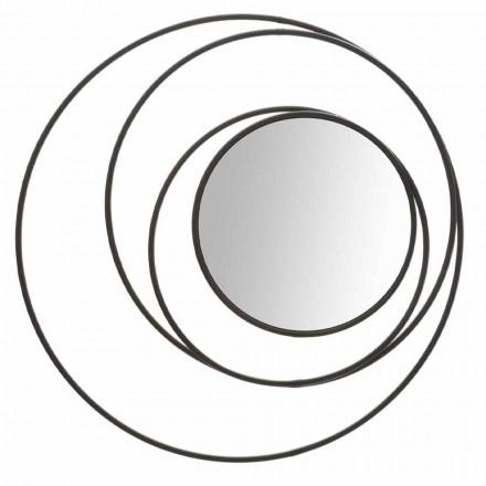 Ronde wandspiegel van modern design in ijzer, Selda