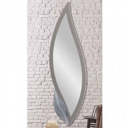 Wandspiegel vormig modern duifgrijs gelakt gemaakt van Italië Sagama