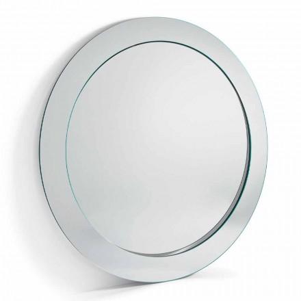 Moderne ronde vrijstaande spiegel met schuine frame gemaakt in Italië - Salamina