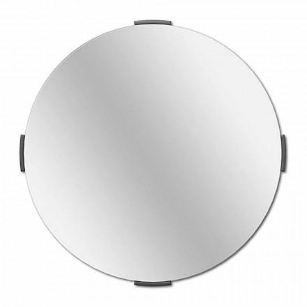 Moderne ronde design cantilever wandspiegel met frame - Odosso