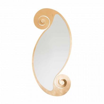 Ovale wandspiegel van modern design in ijzer Made in Italy - Pacific