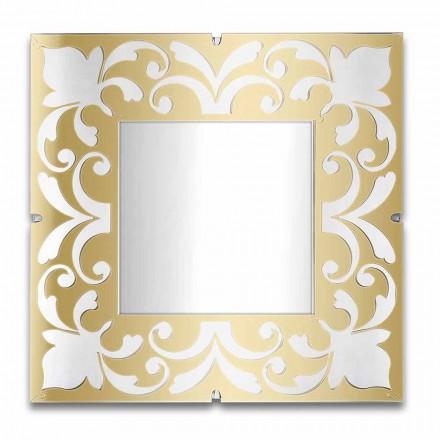 Vierkant spiegellijst in plexiglas Goud, brons, zilver Design - Foscolo