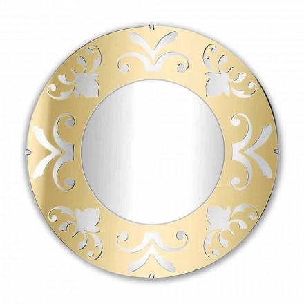 Ronde design spiegel in goud, zilver of brons plexiglas met frame - Foscolo