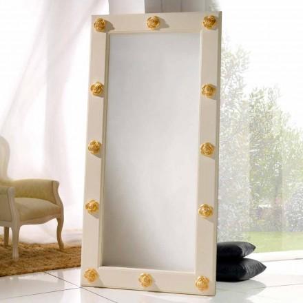 Verticale spiegel vloer / muur met Abel decoraties, handgemaakte