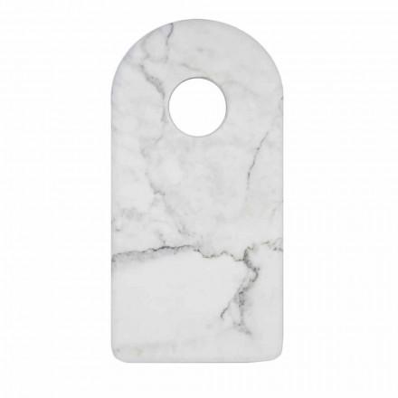 Moderne witte Carrara marmeren design snijplank gemaakt in Italië - Amros