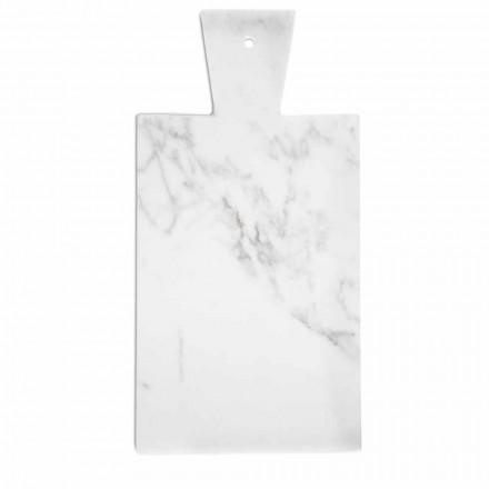 Moderne snijplank in wit Carrara-marmer gemaakt in Italië - Biblon