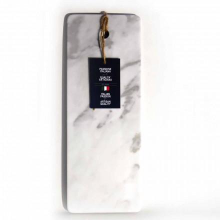 Rechthoekige snijplank in wit Carrara-marmer Made in Italy - Masha