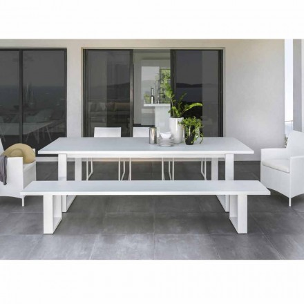 Talenti Essence witte aluminium tuinbank gemaakt in Italië