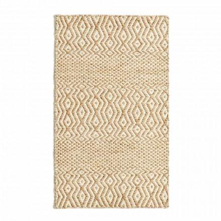 Modern design woonkamertapijt van handgemaakte wol en katoen - Minera