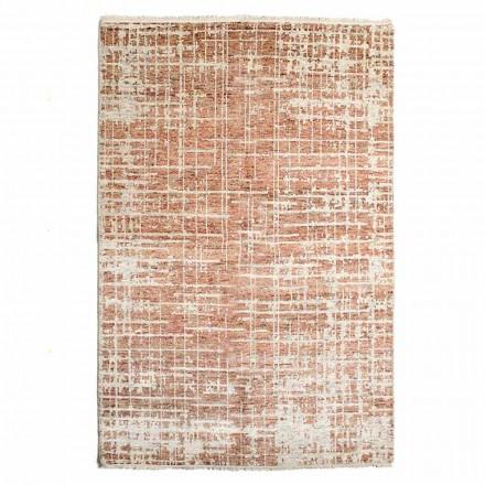 Modern handgeweven vloerkleed van wol en katoen - Neppo