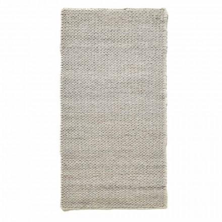Modern handgeweven vloerkleed in polyester en katoen - Tabatha