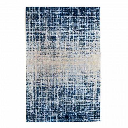 Design rechthoekig vloerkleed in polyester en katoen - stijl