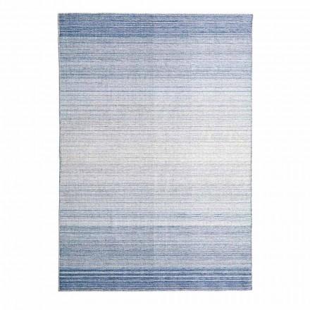 Rechthoekig vloerkleed handgeweven van polyester en katoen - Zonte