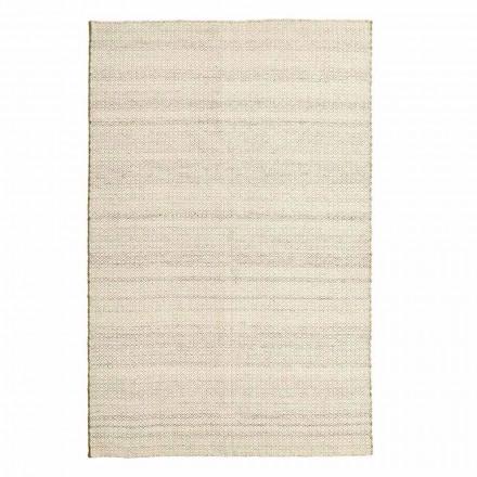 Handgeweven vloerkleed in modern design van wol en katoen - Rivet