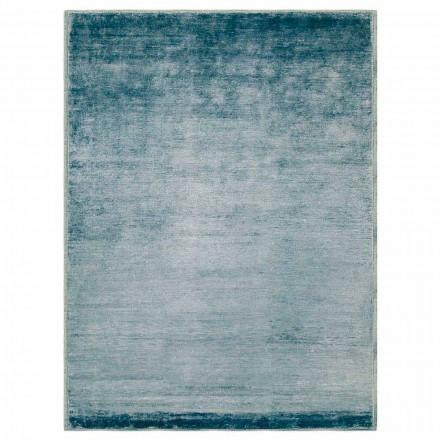 Gekleurd en modern design tapijt in katoen en zijde 2 afmetingen - Zefiro