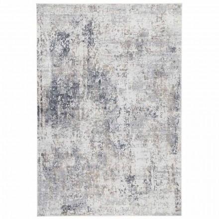 Design beige tapijt met tekening in viscose en polyester - Occitanië