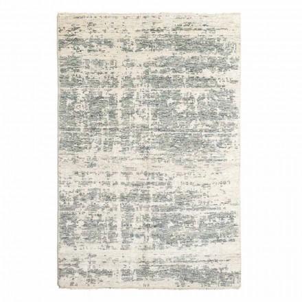 Handgeweven designtapijt van wol en katoen voor de woonkamer - koper