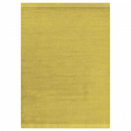 Modern design gekleurd en groot tapijt in zijde en wol met bandmix