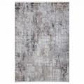 Antislip tapijt in grijs beige viscose en acryl met tekening - President