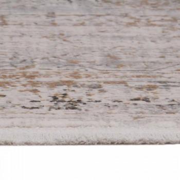 Antislipdeken van acryl en viscose met grijsbeige design - President