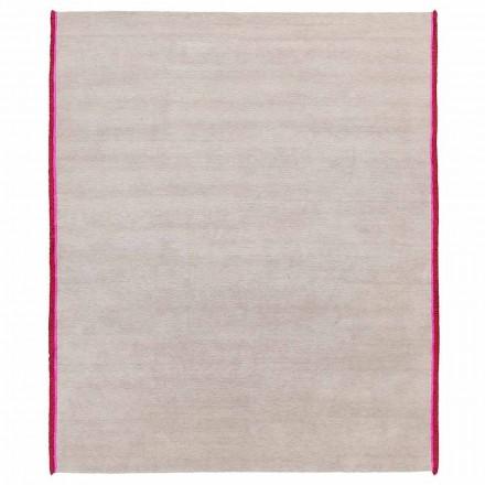 Modern design tapijt in viscose en katoen met gekleurde franjes van zijde - Garbino