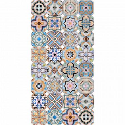 Modern tapijt met gekleurde majolica in vinyl voor de woonkamer - Calor