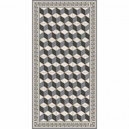 Modern woonkamertapijt in pvc en polyester met geometrisch patroon - Romio