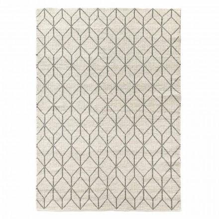 Modern handgeweven tapijt met geometrisch ontwerp in wol voor de woonkamer - Geome