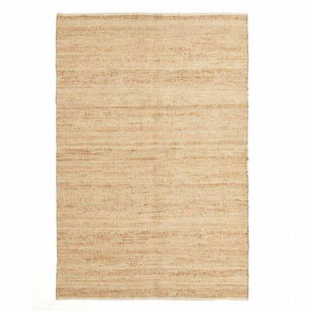 Rechthoekig vloerkleed van wol, jute en katoen Modern design voor de woonkamer - Remino
