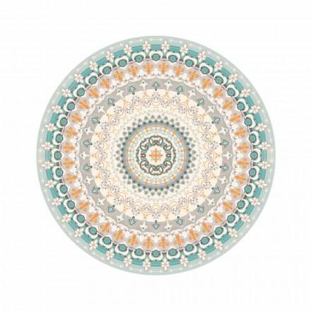 Rond vinyl tapijt met patroon in moderne stijl voor de keuken - Rondeo