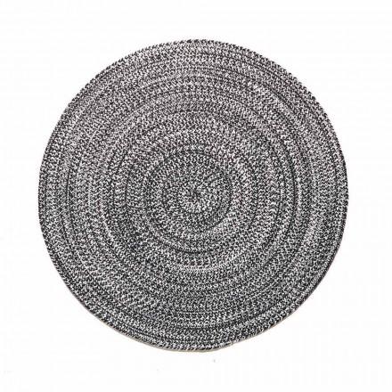 Modern rond tapijt voor de woonkamer van handgeweven katoen - Redondo