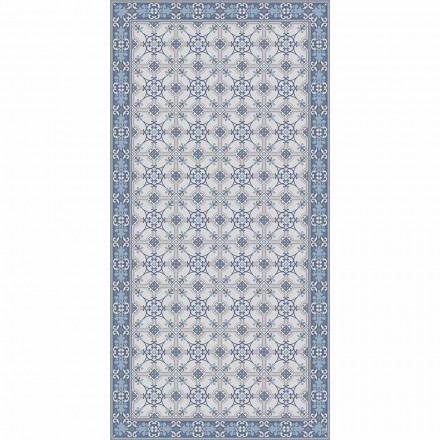 Design woonkamertapijt in pvc en polyester met rechthoekig patroon - Chico