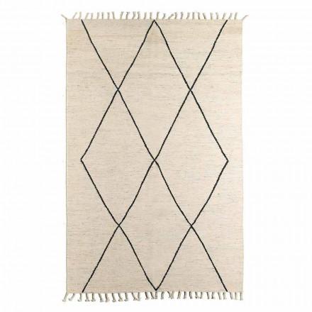 Woonkamertapijt van wol en katoen met modern geometrisch ontwerp - Metria